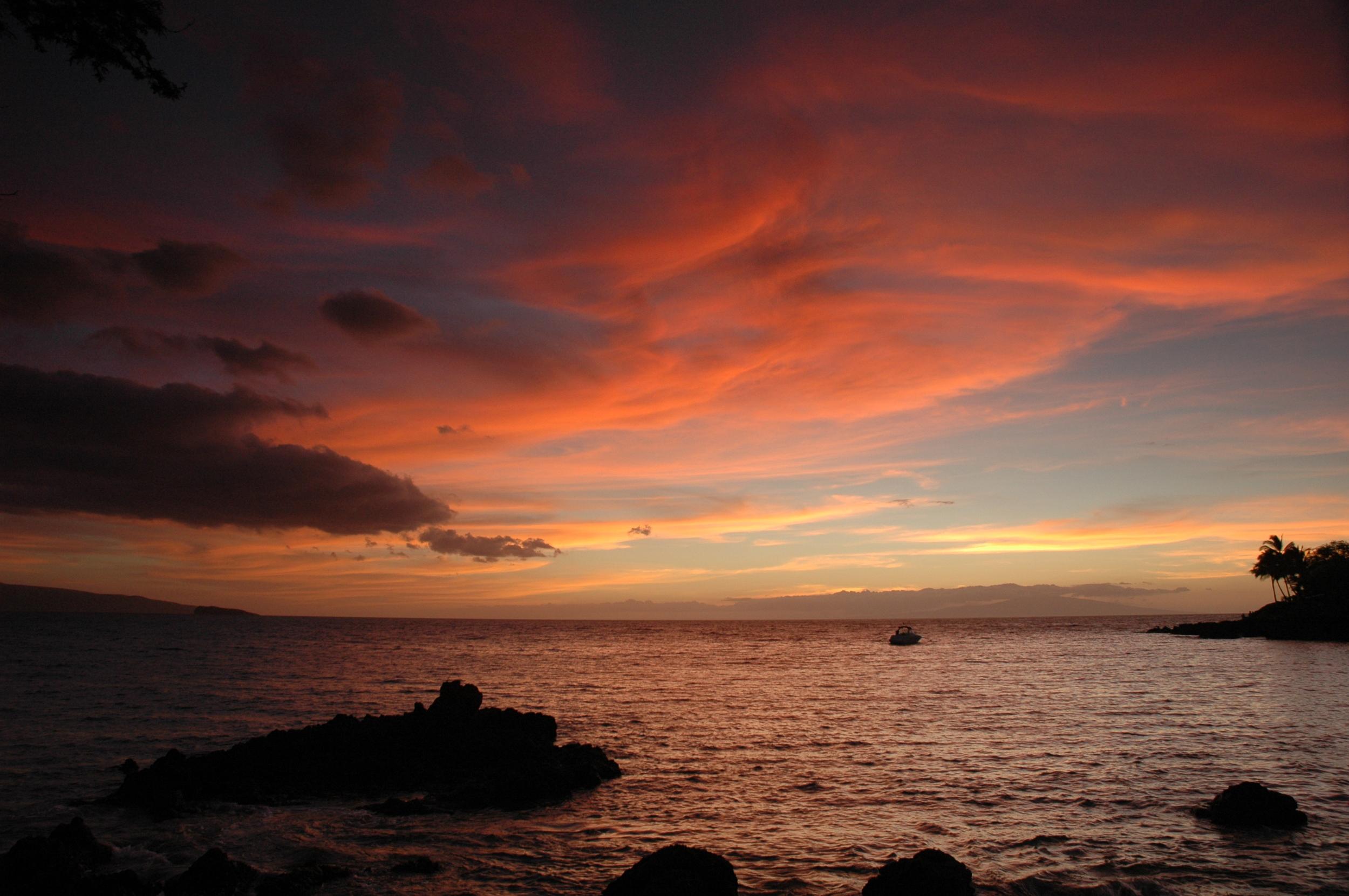 Sunset at Makena Landing