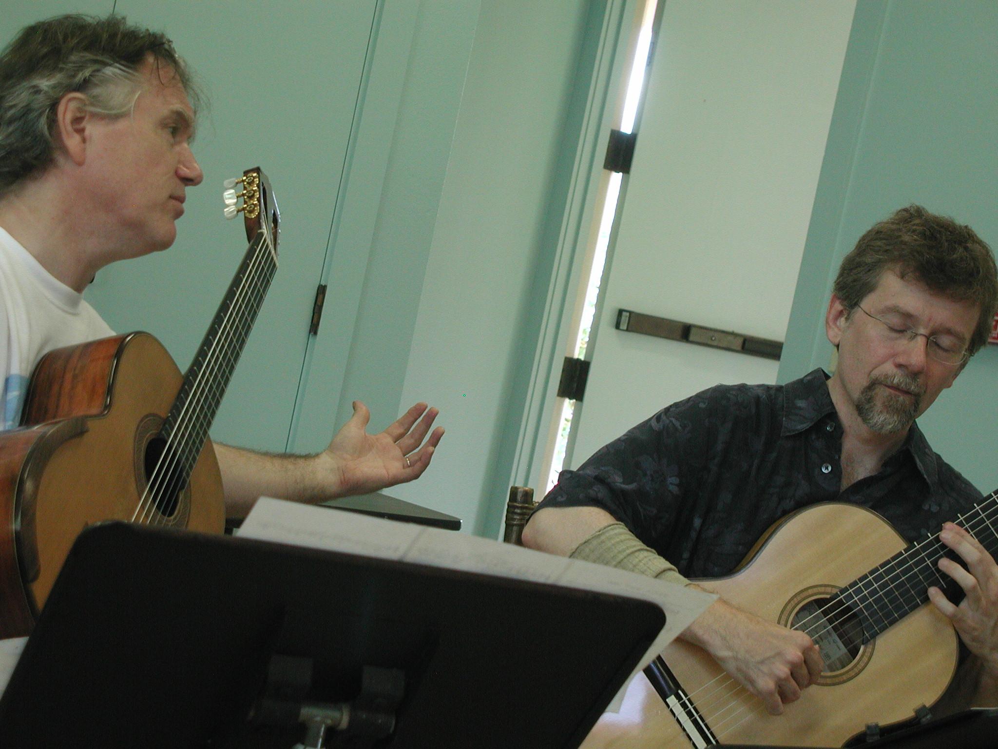 Ben teaching John Olson (2005)