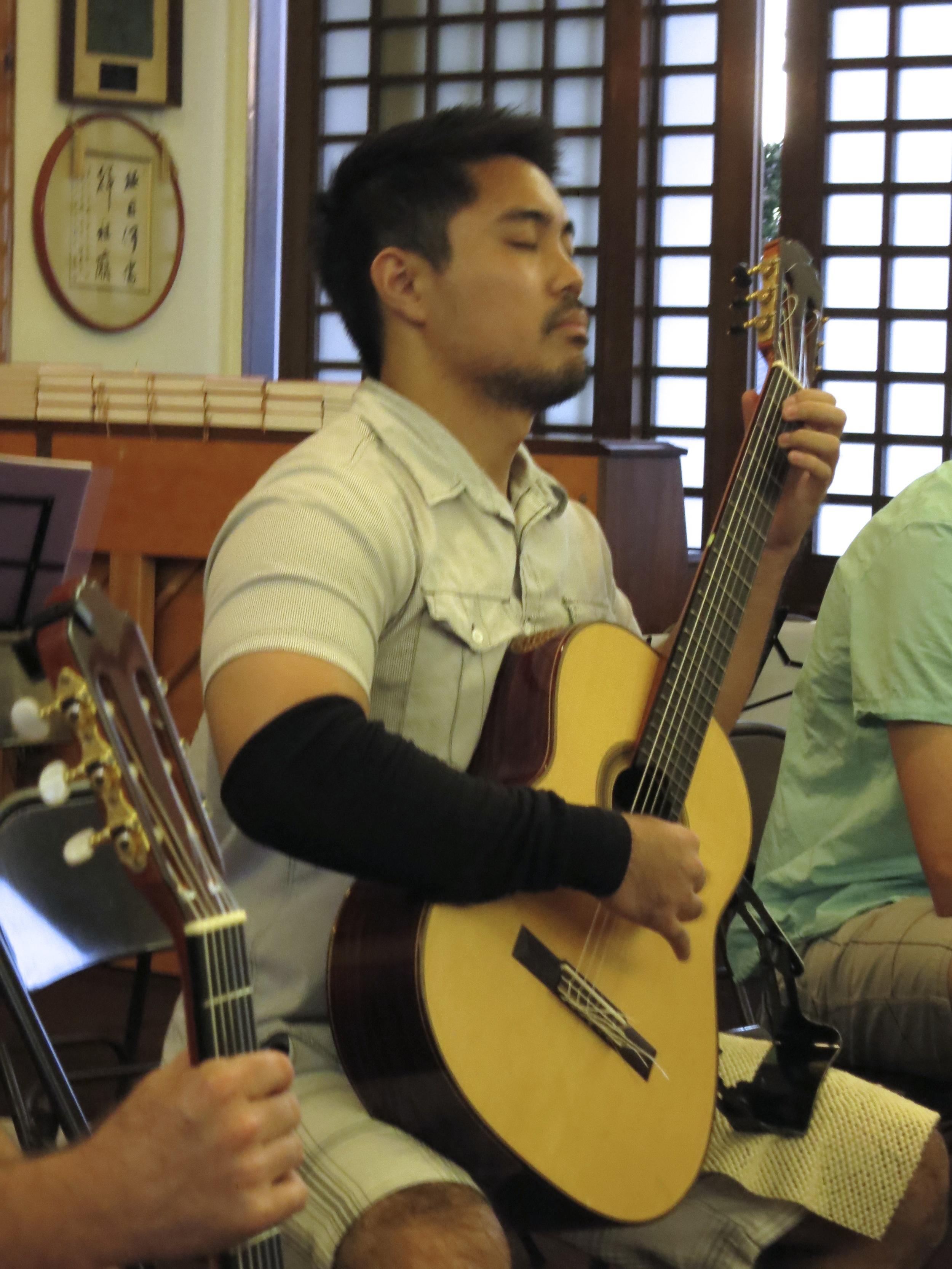 Aaron Cardenas at the Lahaina Jodo Mission (2014)
