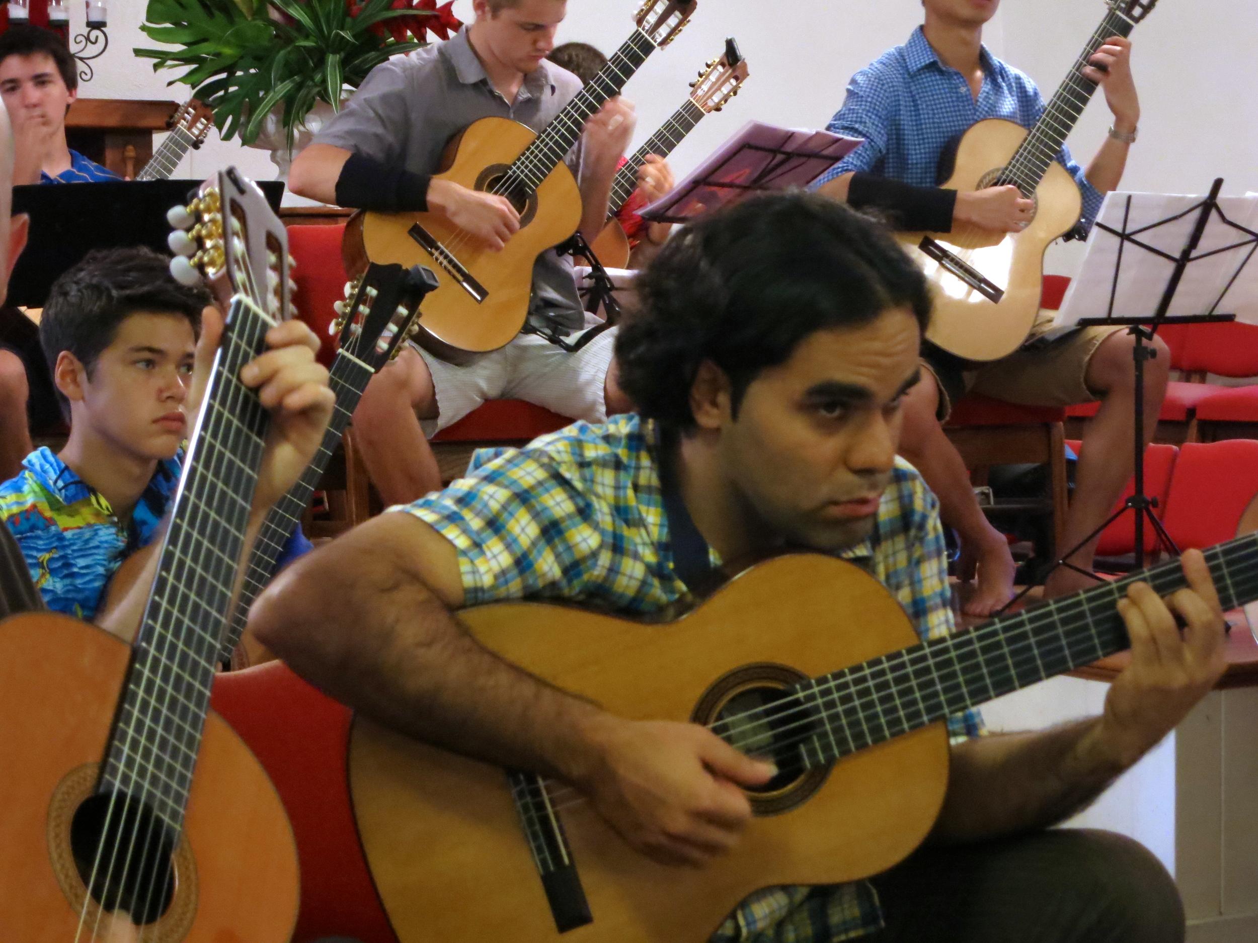 Guitar orchestra at Keawala'i Church (2014)
