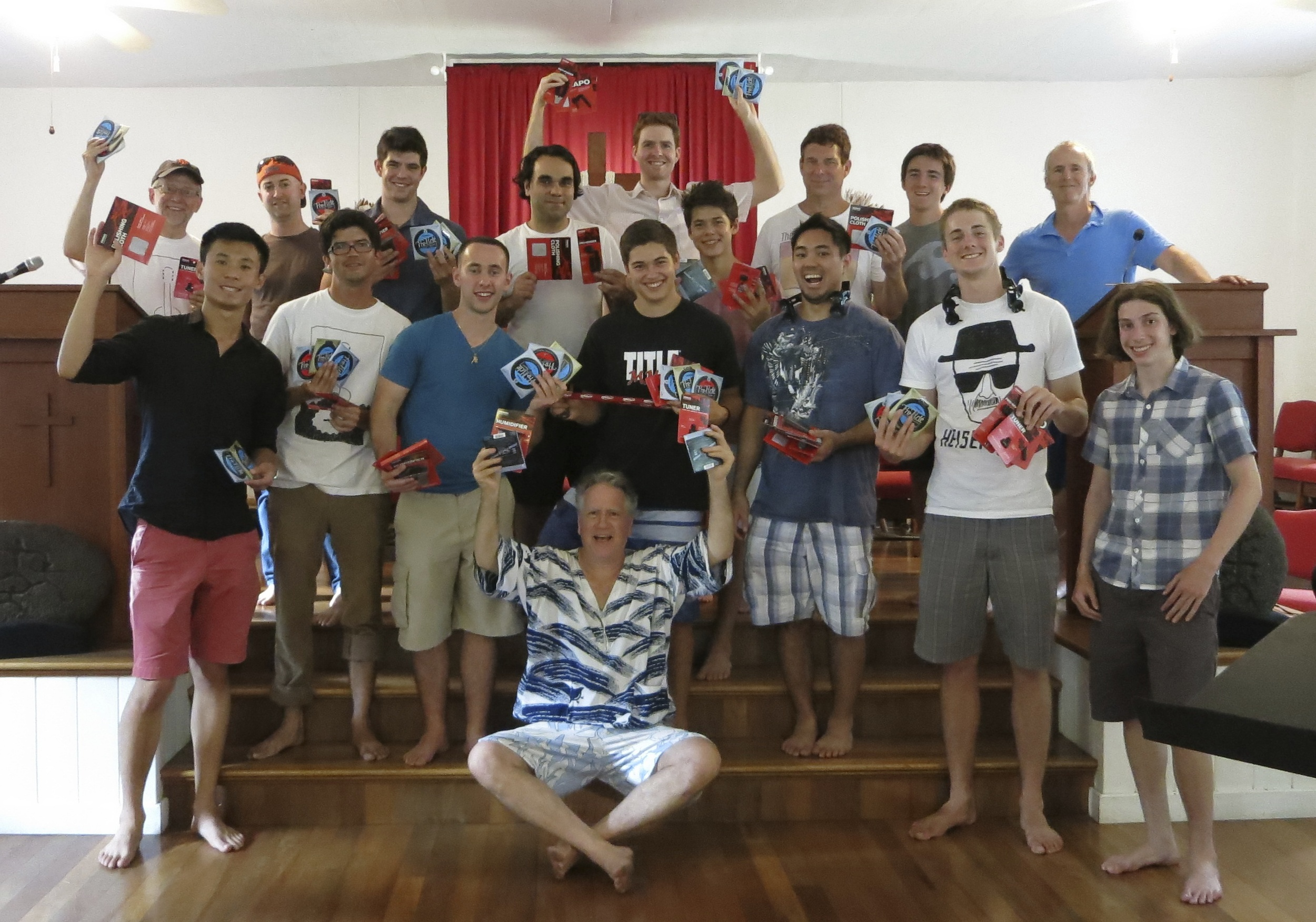 2014 class with D'Addario products