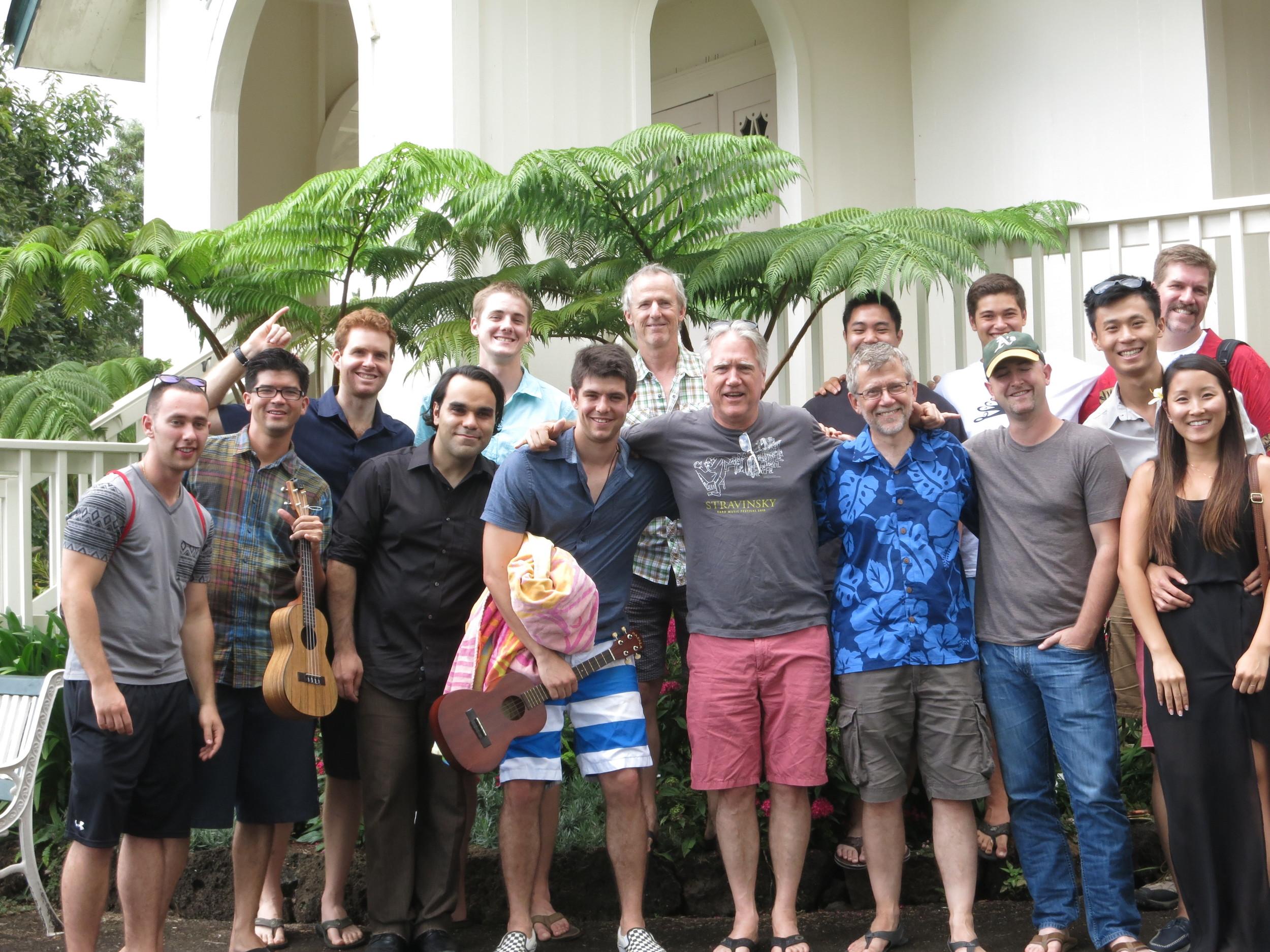 2014 class members after concert at St. John's Church in Kula