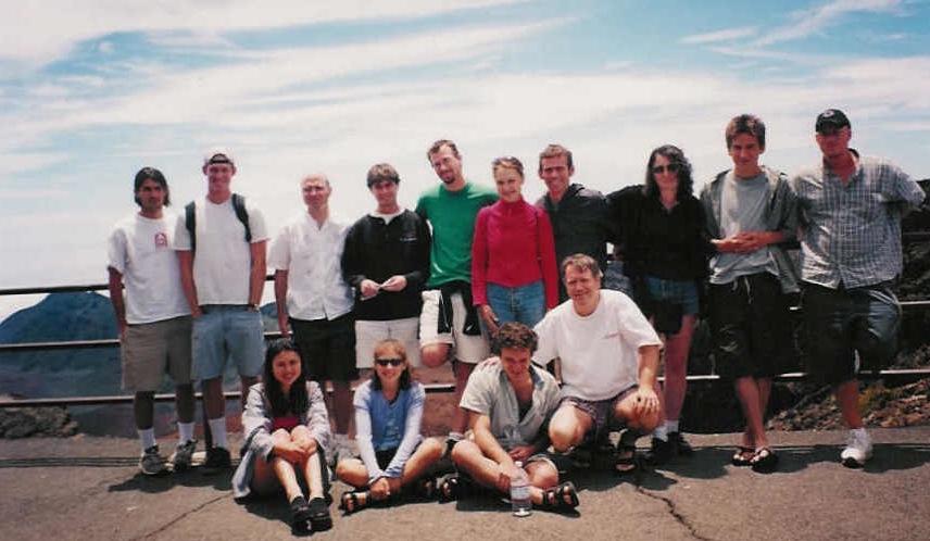 Class members on Haleakala (2000)