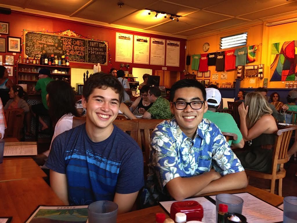 Ben Werdegar and Noah Kim at Cafe Mambo in Paia (2013)