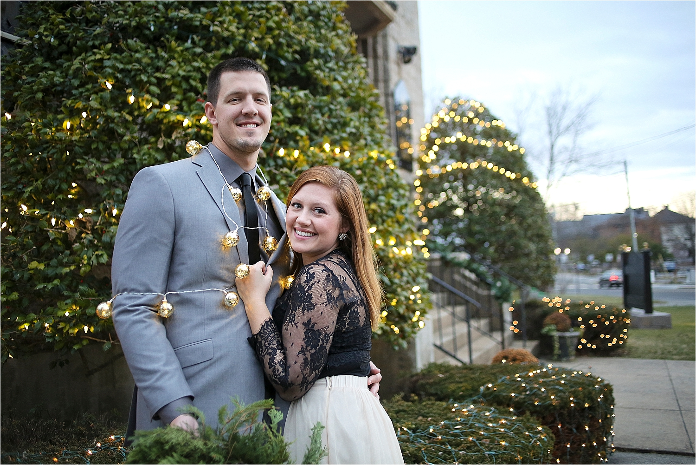 Danielle + Michael | Blacksburg Christmas Card Photographer, Holly Cromer