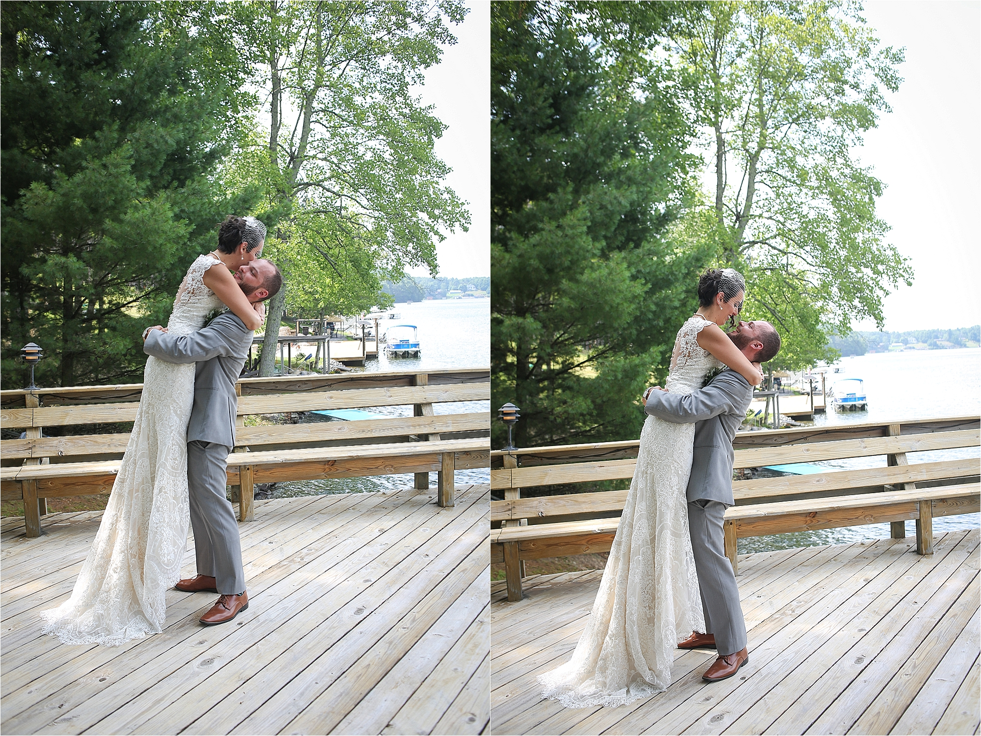Bride and Groom First Look Flat Top Lake West Virginia Wedding Photography