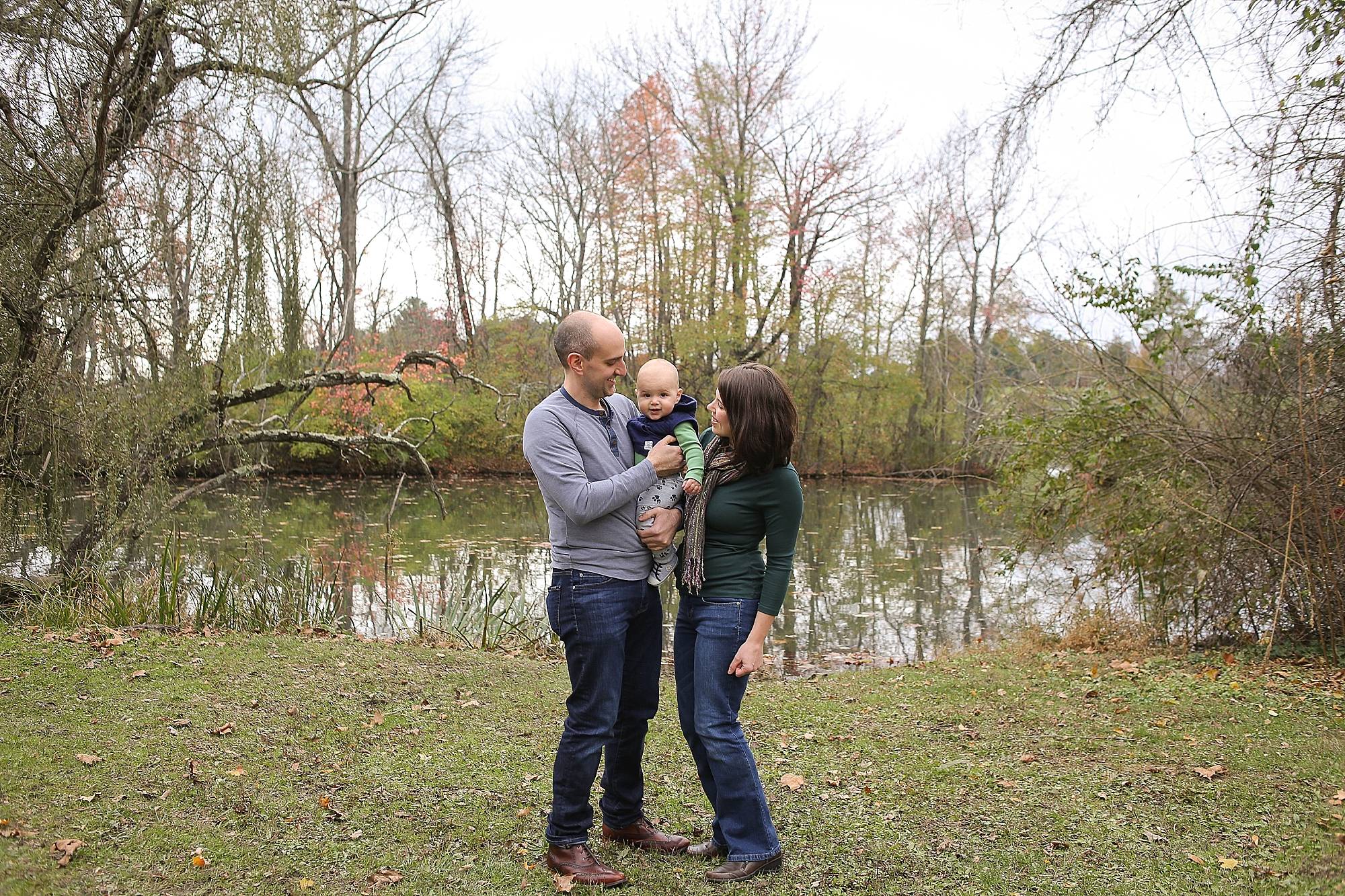 Family Photos at the Virginia Tech Duck Pond | Blacksburg, Virginia Family Portrait Photographer