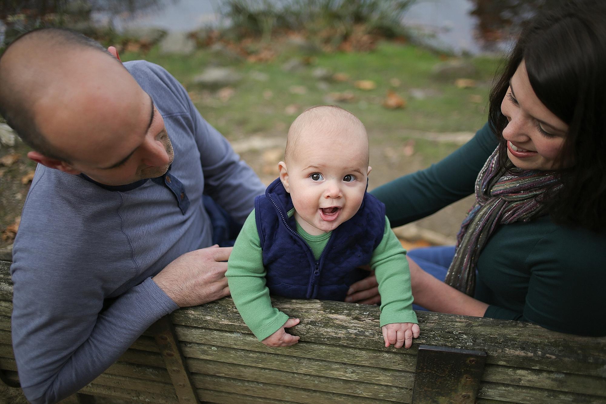 Family Photos at the Virginia Tech Duck Pond | Blacksburg, Virginia Family Portrait Photographer