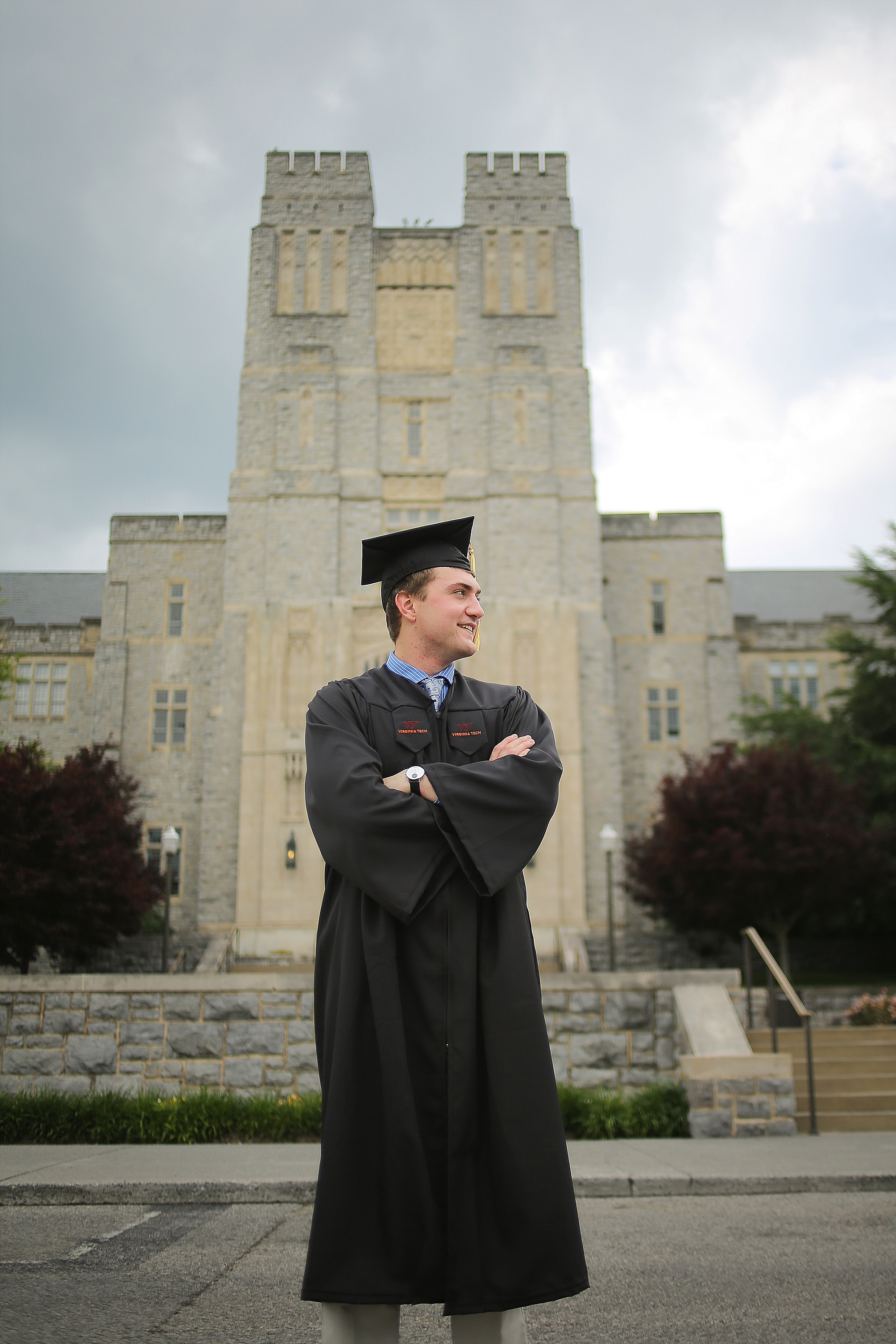 Cameron | Virginia Tech Graduation Portrait Photographer, Holly Cromer