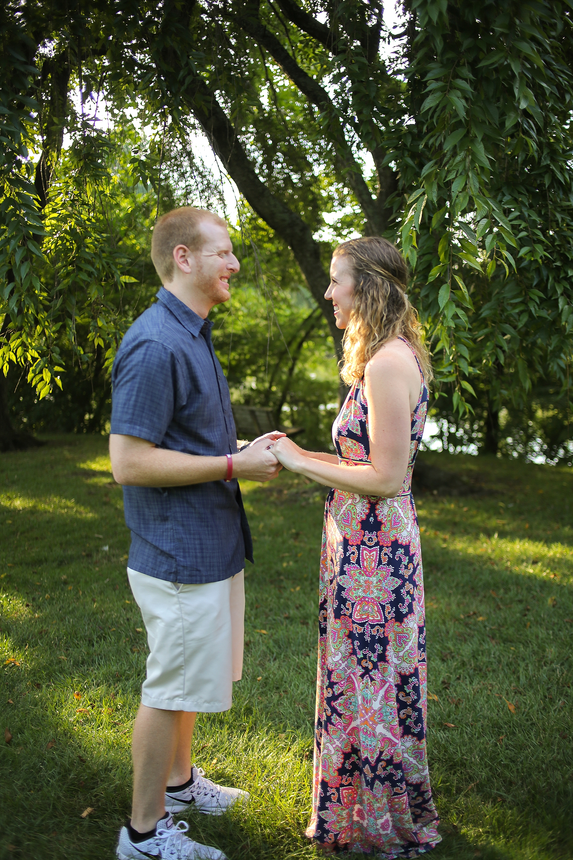 Matt + Amy's Virginia Tech Duck Pond Proposal | Blacksburg, Virginia Engagement Photographer: Holly Cromer