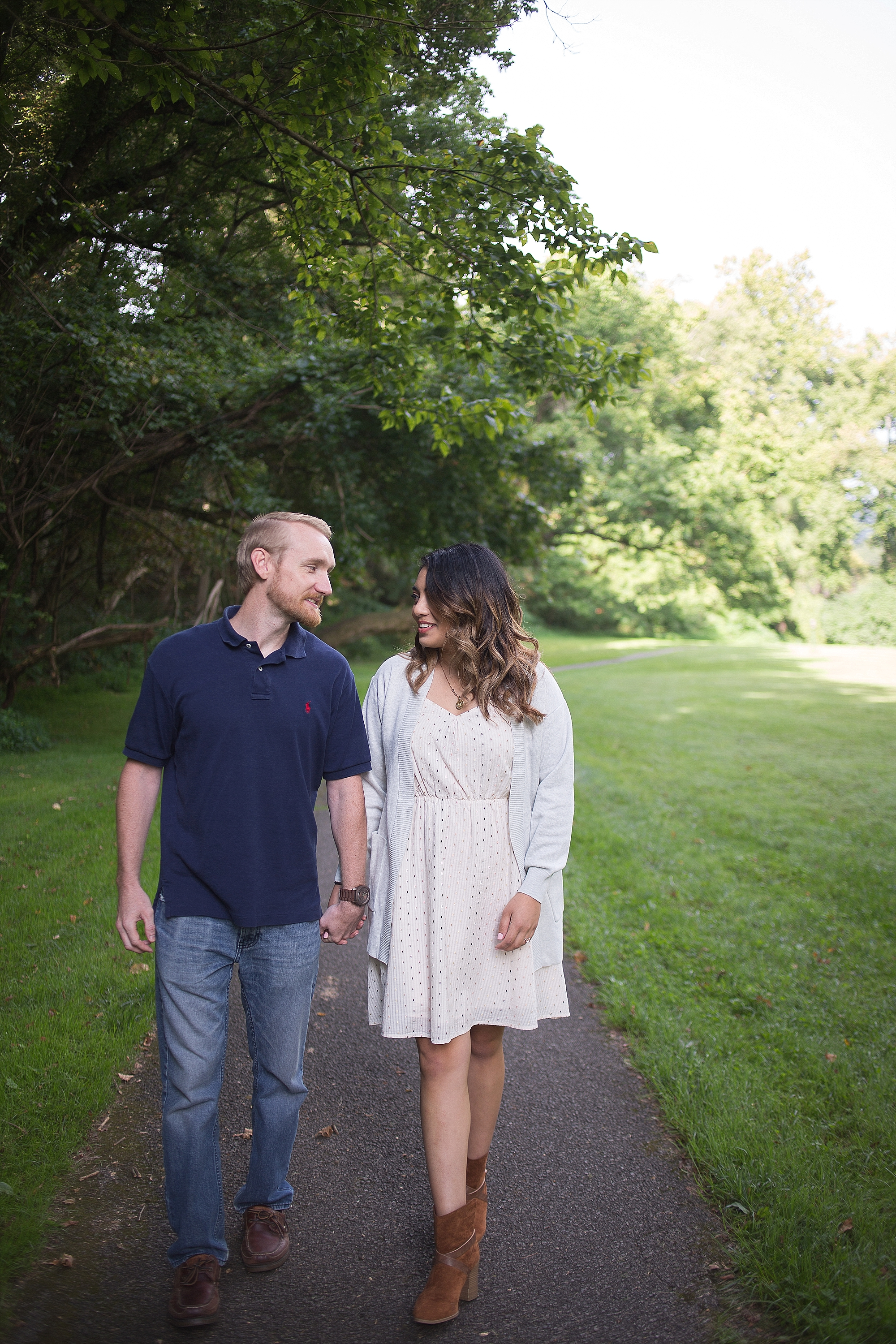 Taylor + Mel's Radford Engagement Photos | Engagement Photos at Raford Coffee Co and Bissett Park by Holly Cromer