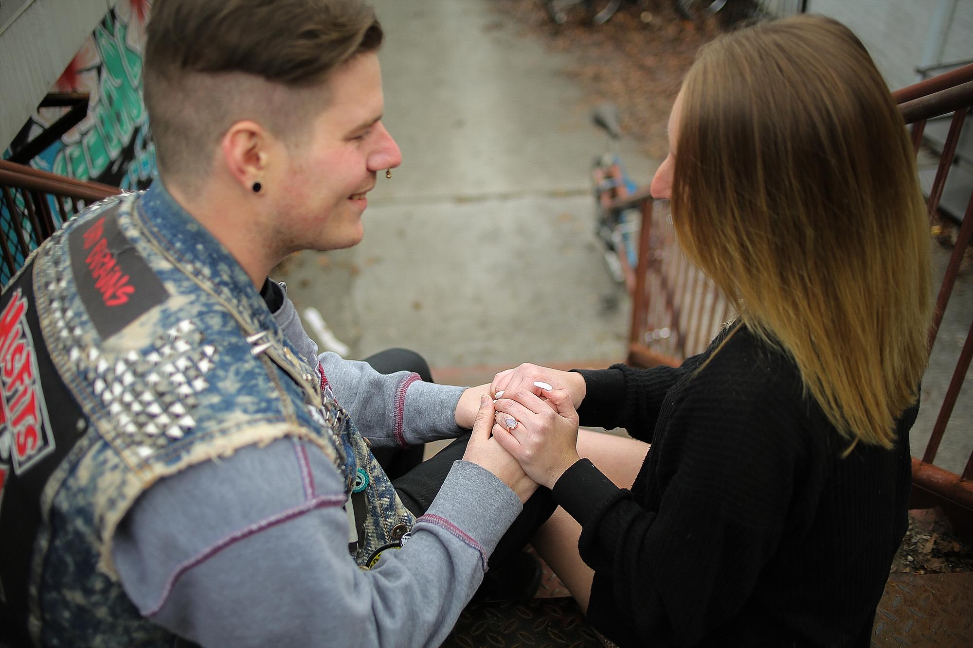Lauren + Eli's Blacksburg, Virginia Tech Engagement Photos | Blacksburg, Virginia Wedding Photographer
