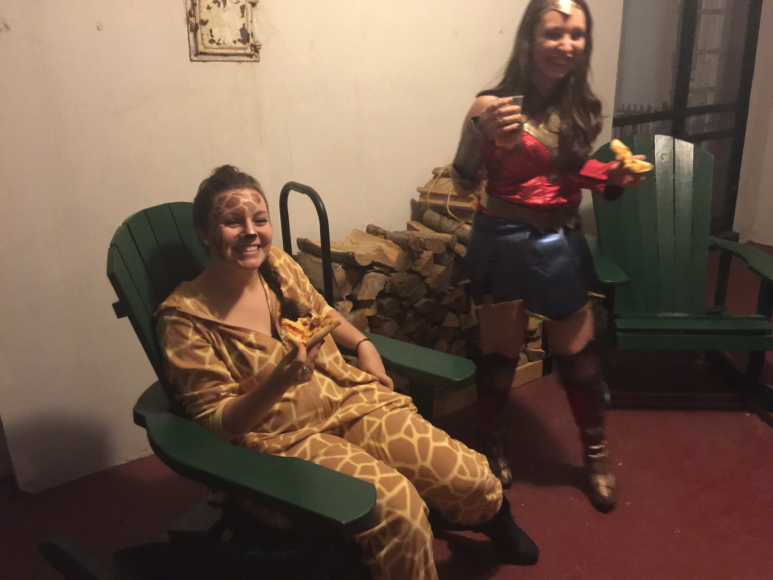 Lindsay Rathbun and Erica Colicino Lounging before party fun!