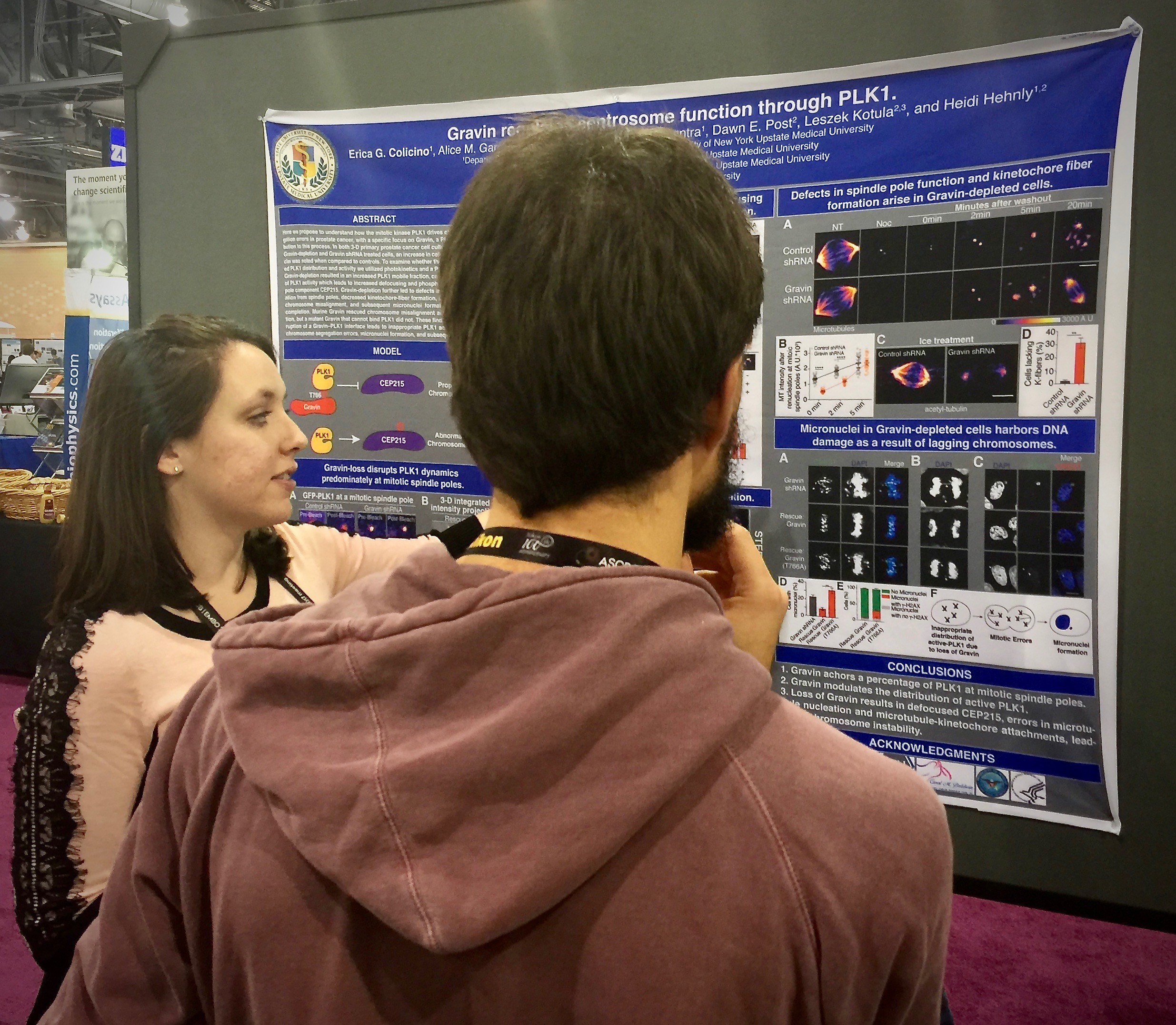 Erica Colicino presenting her poster.