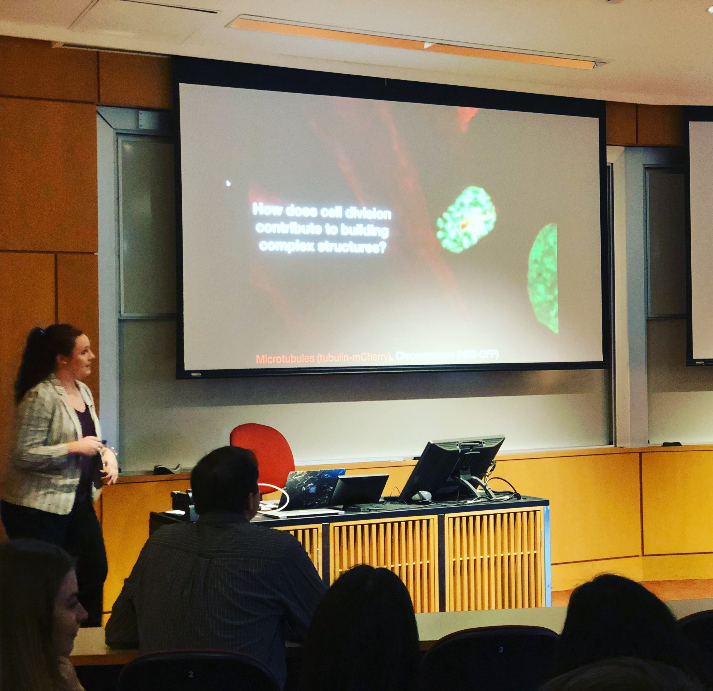 Lindsay (4th year Ph.D. candidate) presenting on cell division in zebrafish!