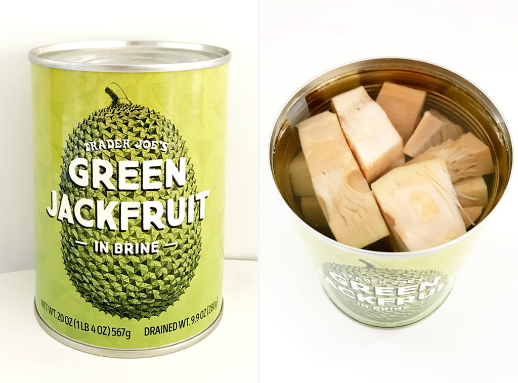 Image from PopSugar. Trader Joes carried green jackfruit for $1.99 per can.