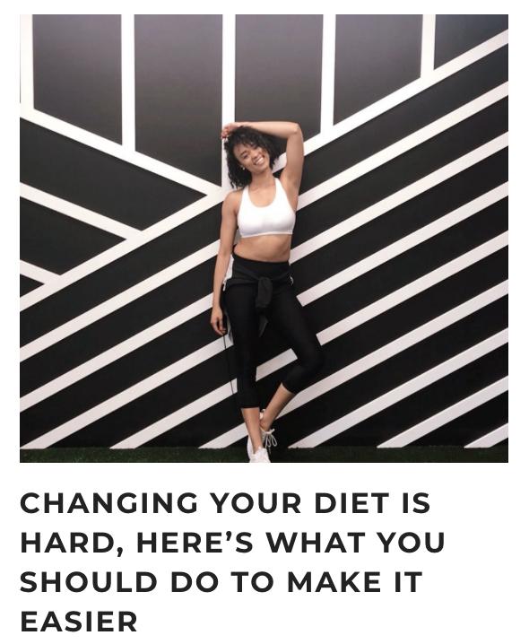RBX Active Diet Changes Blog