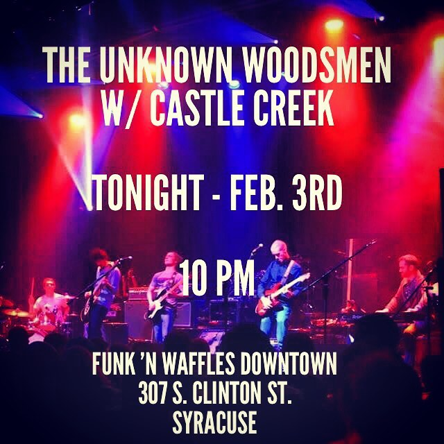 Looking to satisfy that itch for some epic bluesy rock and roll goodness tonight? Come down to Funk 'n Waffles Downtown to catch us playing with Syracuse's own, @castlecreekband! Music starts at 10 pm! C'mon, you know you want to....;) #syracusemusic #cnymusic #livemusic #ithacamusic #cortlandny #syracuseny #rocknroll #blues