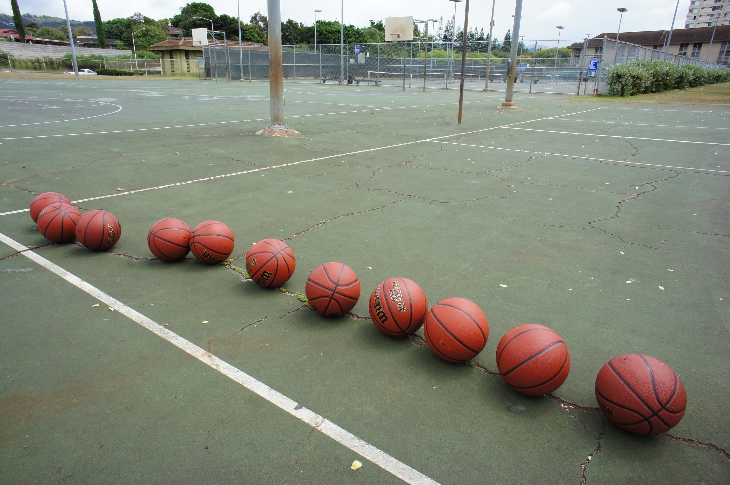 Basketballs to Pearl Ridge Elementary 2014 1.JPG