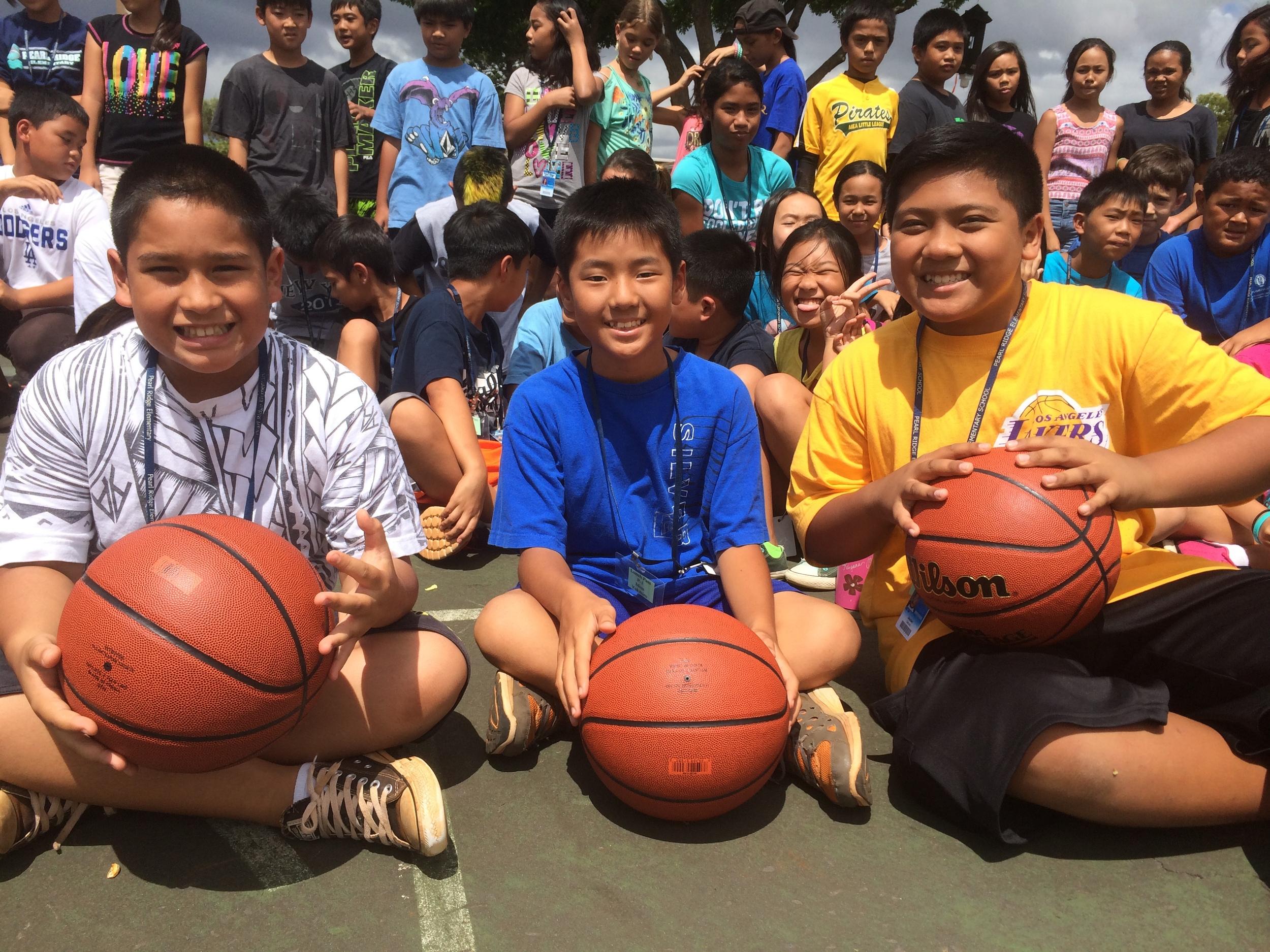Basketballs to Pearl Ridge Elementary 2014 24.jpg
