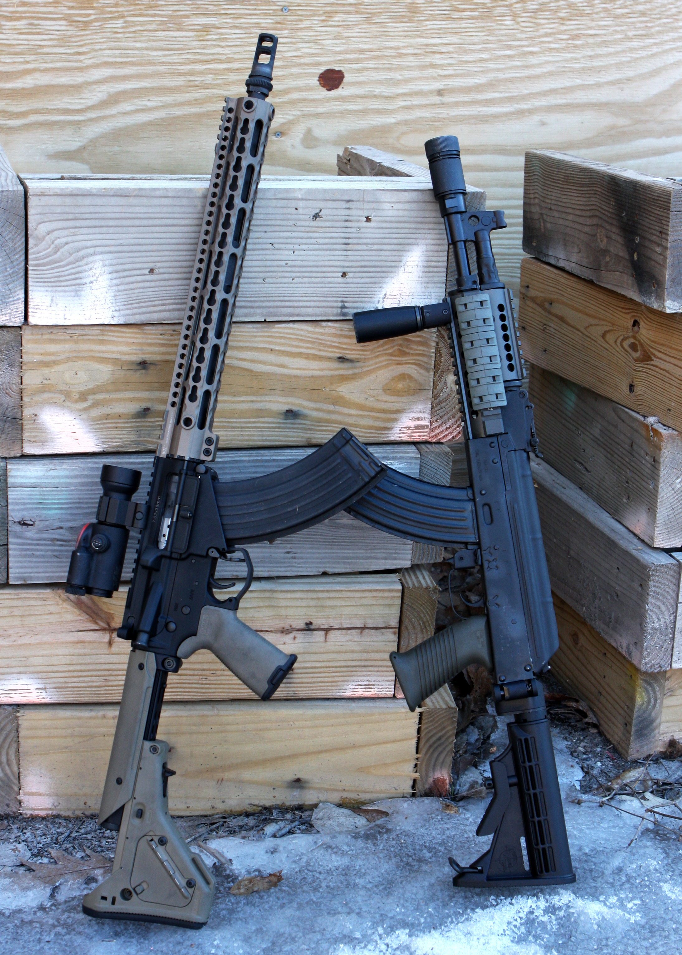 The Ak on the right is a Registered SBR Draco.