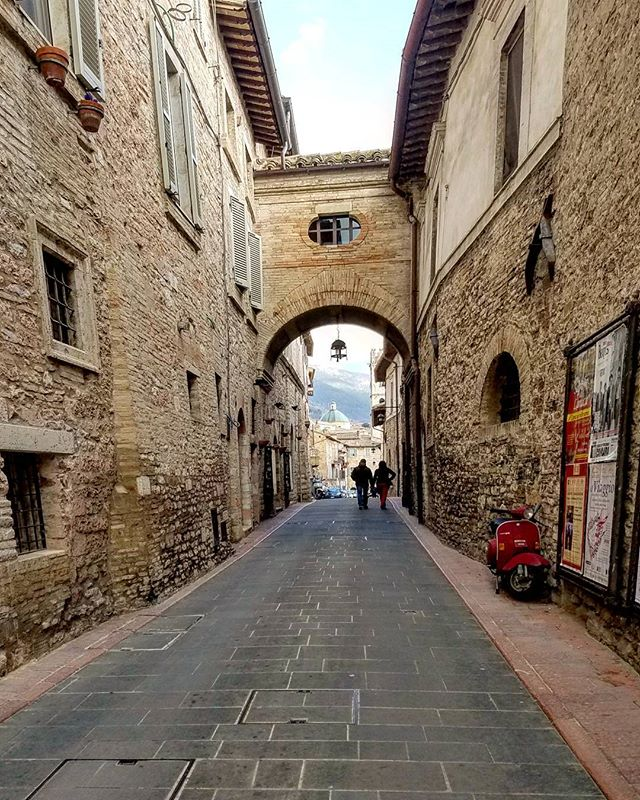 Little streets in little towns with big churches aka, most of Italy. . . #assisi #italy