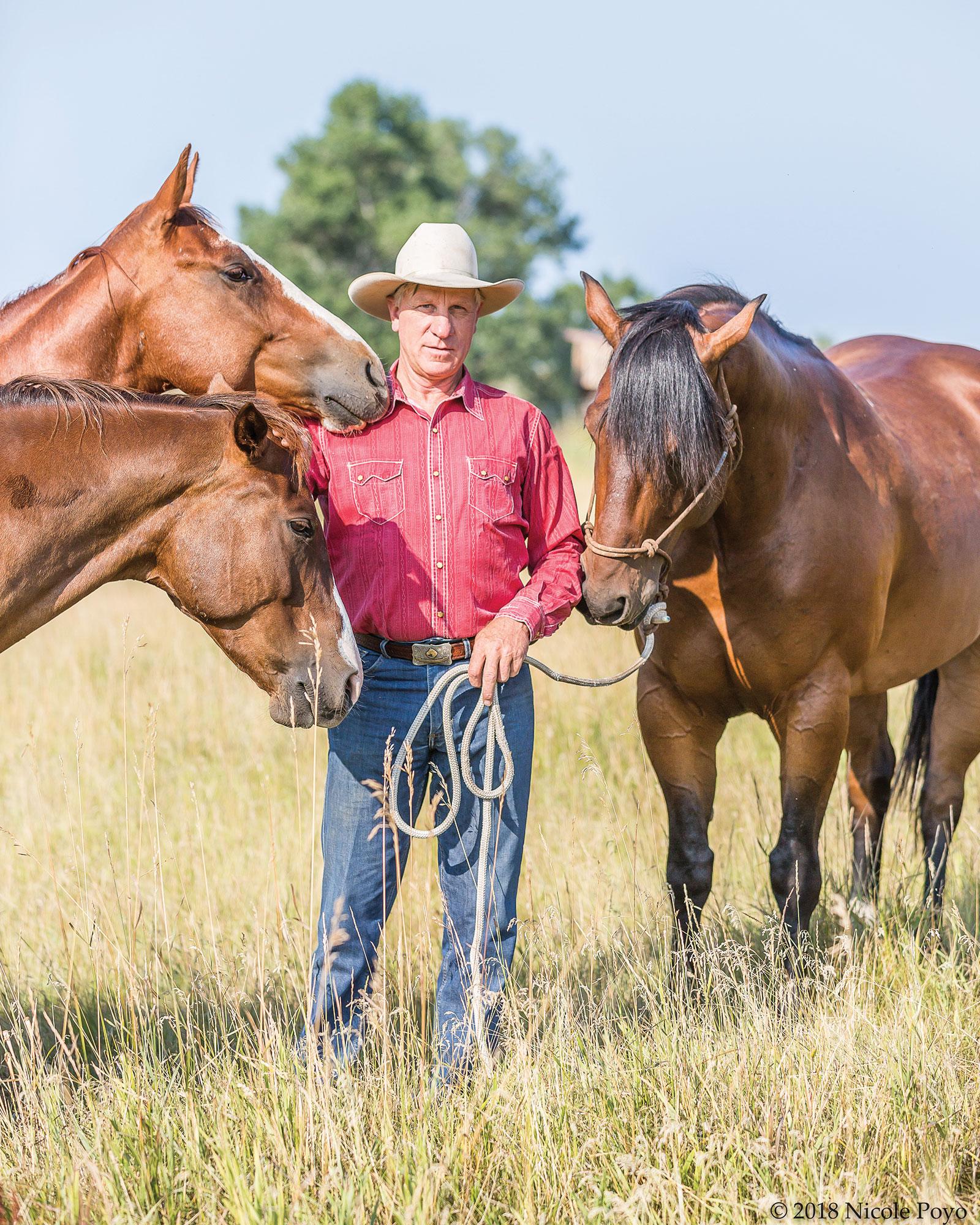 Buck Brannaman.  Photo by Nicole Poyo.