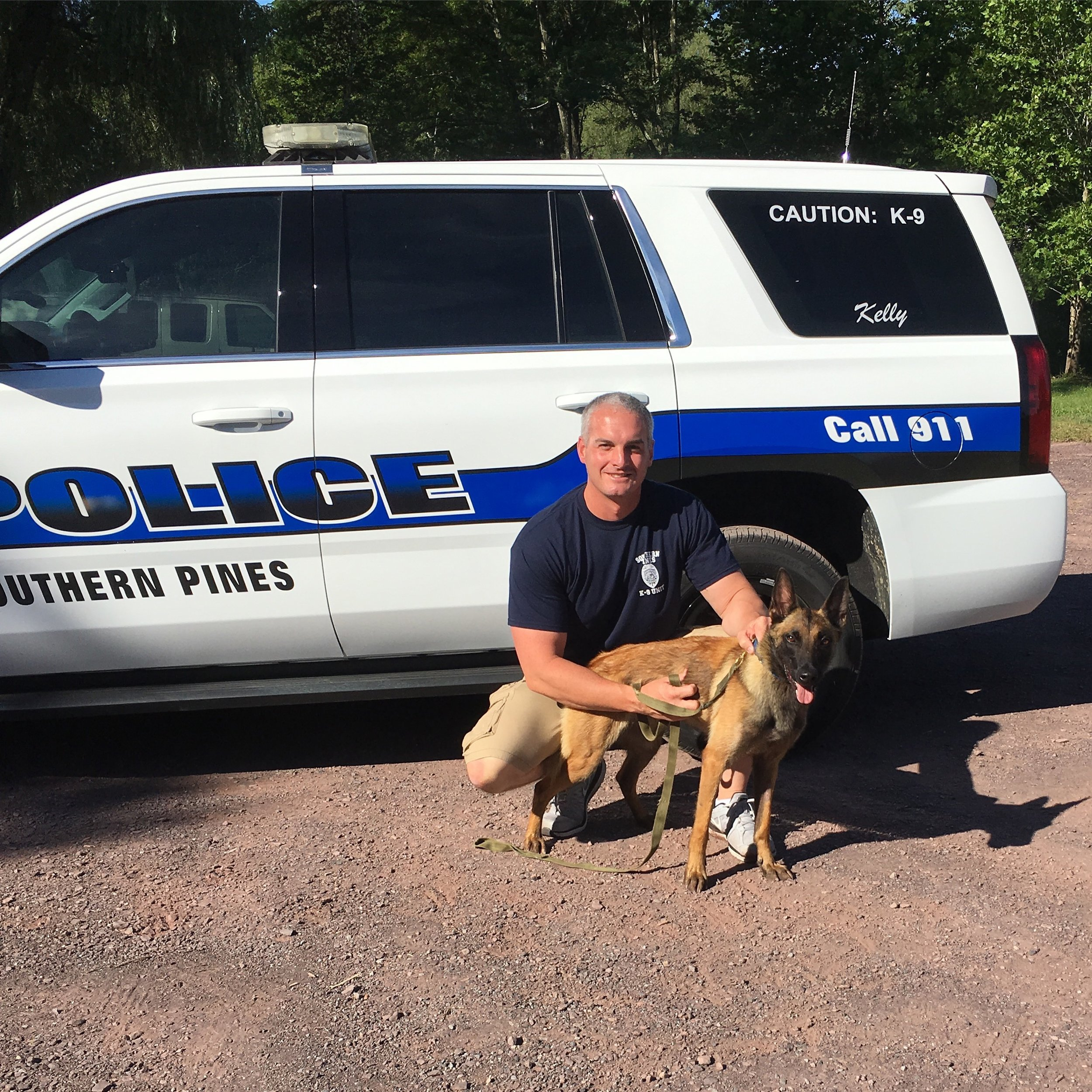 Sgt. Jason Embler and K9 Ivy
