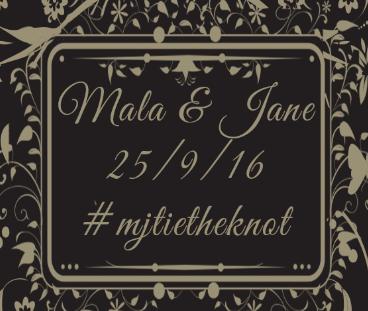 Wedding of Jane & Mala    25th September 2016