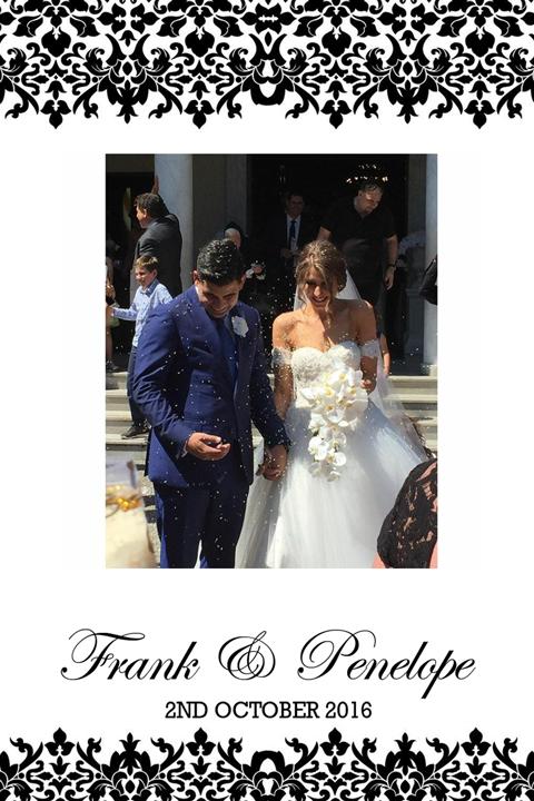Wedding Of Frank & Penelope    2nd October 2016