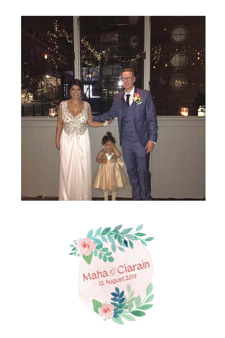 Wedding of Maha & Ciarain    12th of August 2017