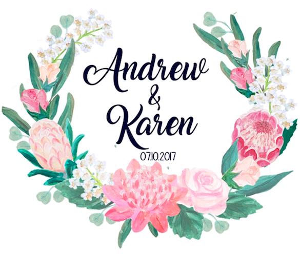 Wedding of Karen & Andrew    7th of October 2017