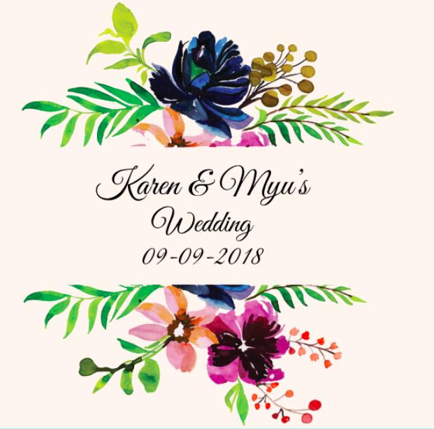 Wedding of Karen & Myu    9th of September 2018