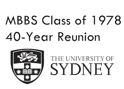 MBBS Class of 1978, 40 year reunion    22nd of September 2018