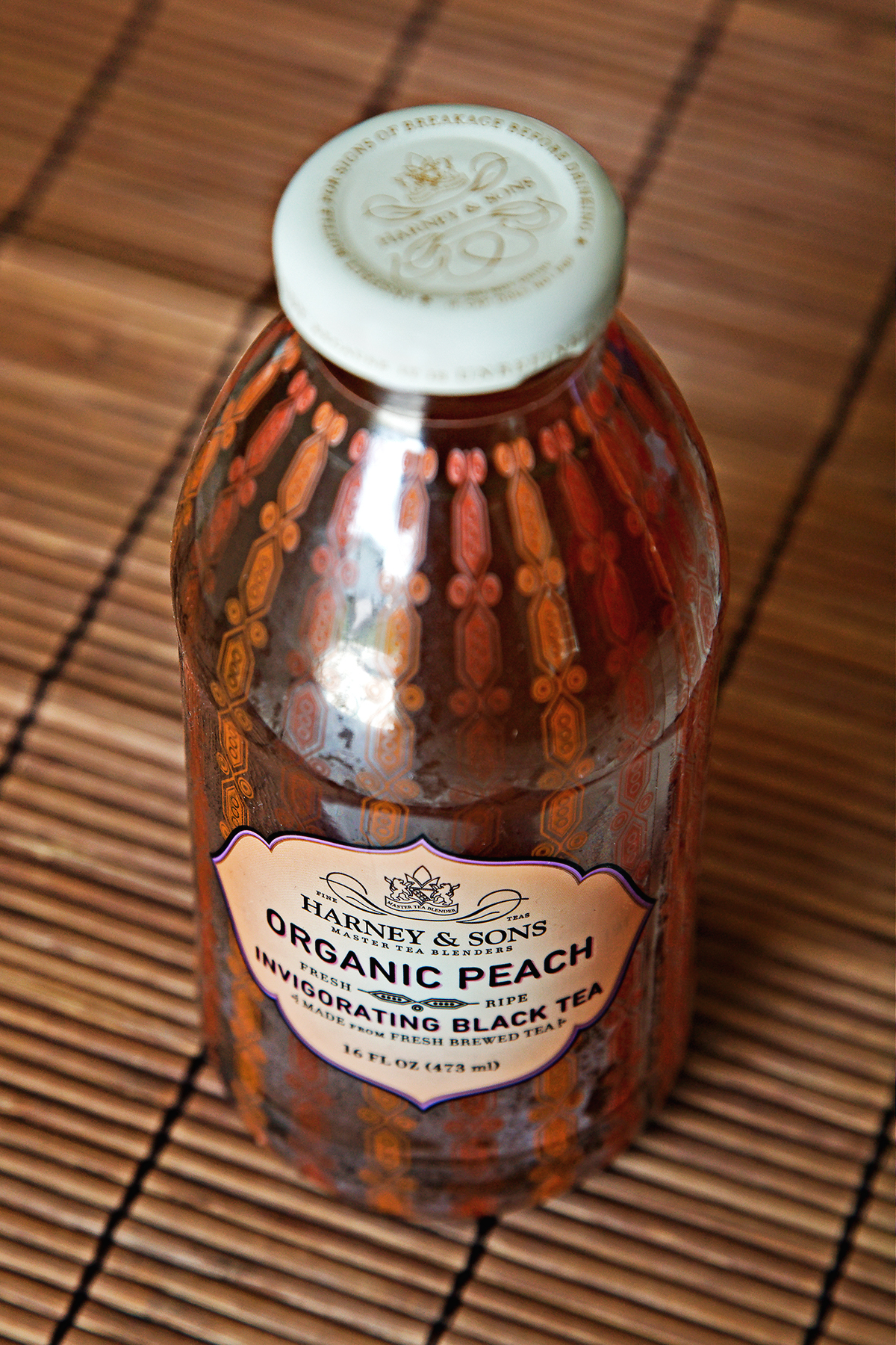 Tea Review: Bottled Organic Peach Invigorating Black Tea - Harney & Sons