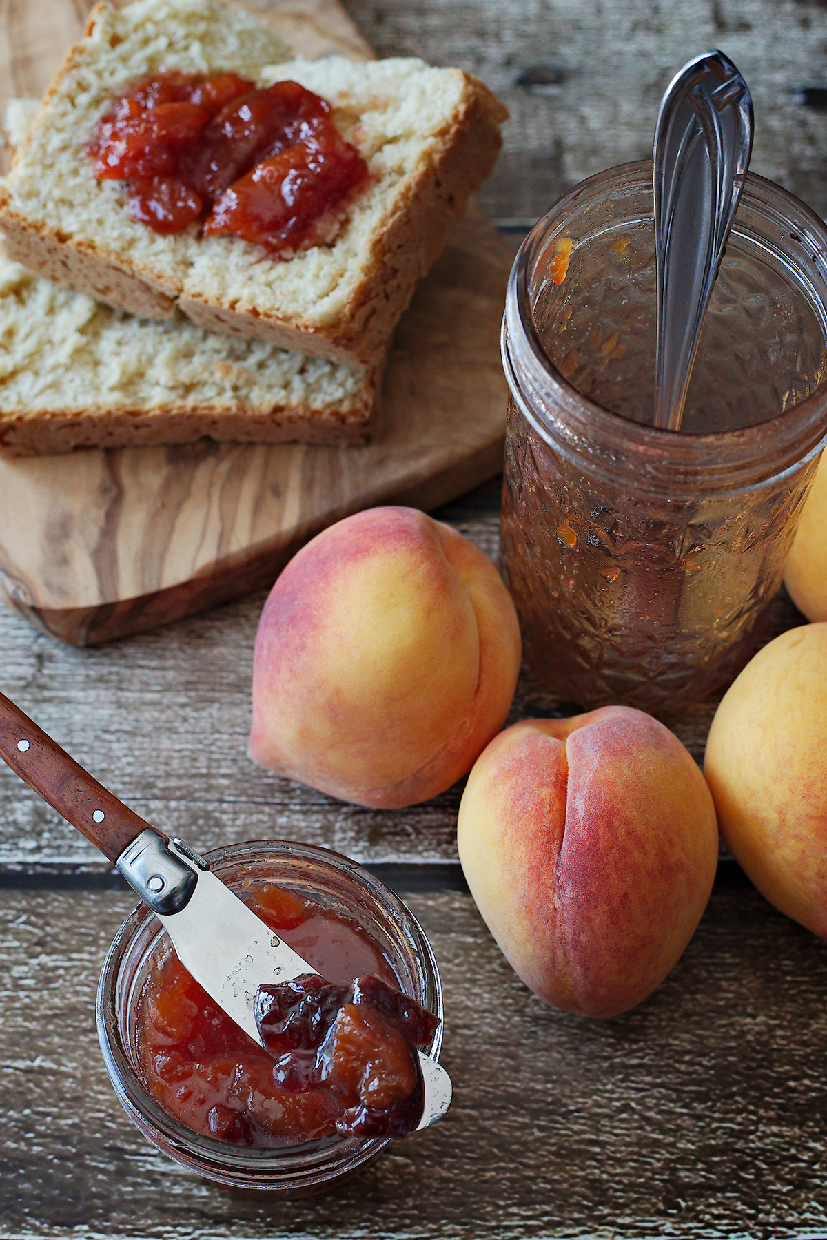 Sweet Cherry and Peach Preserves