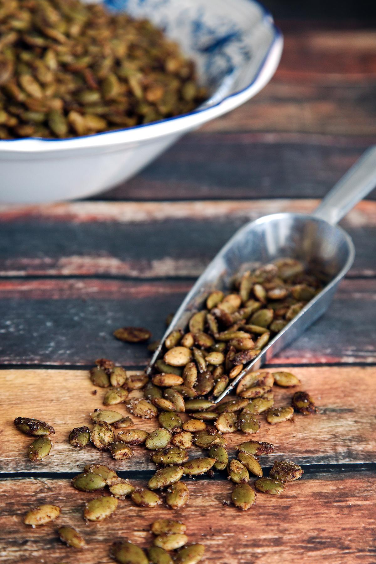 Pumpkin Pie Spice Pepitas (Pumpkin Seeds)