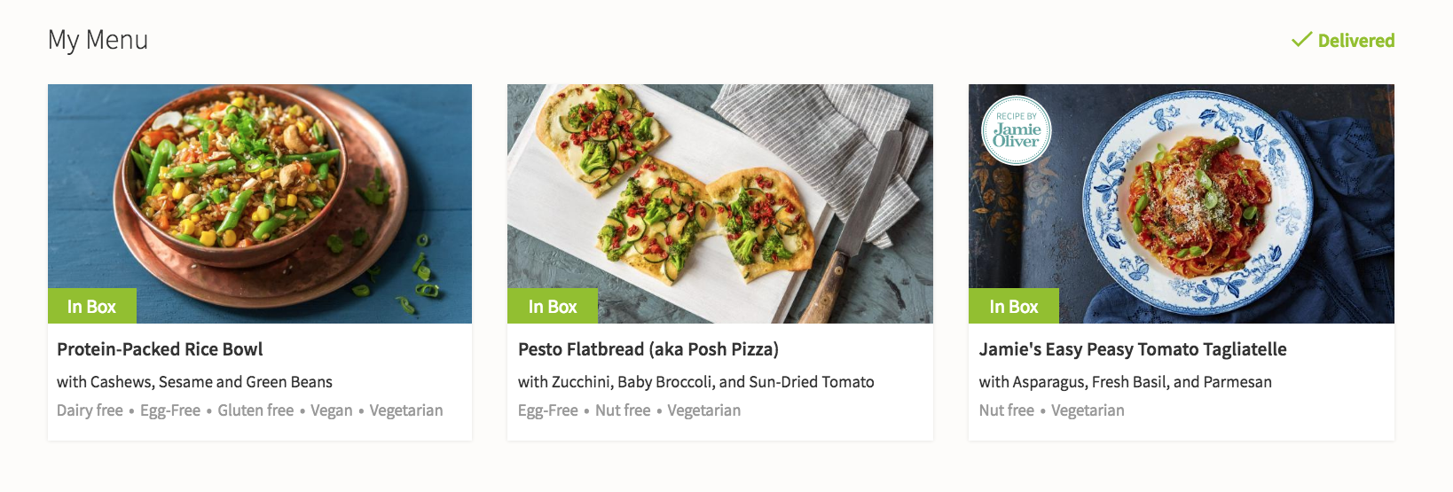 Hello Fresh Menu 12/2 - 12/8