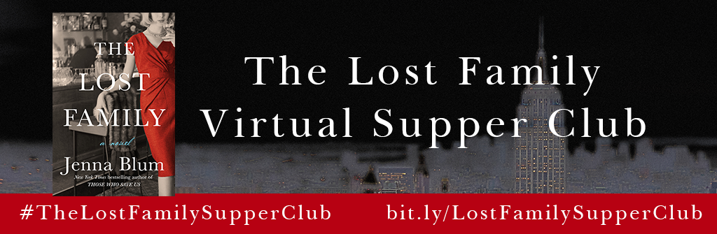 Don't Forget: Jenna's book will be released on June 5th 2018. Click on the banner above to see what tasty dishes the other members of The Lost Family Virtual Supper Club have dished up for you this week!