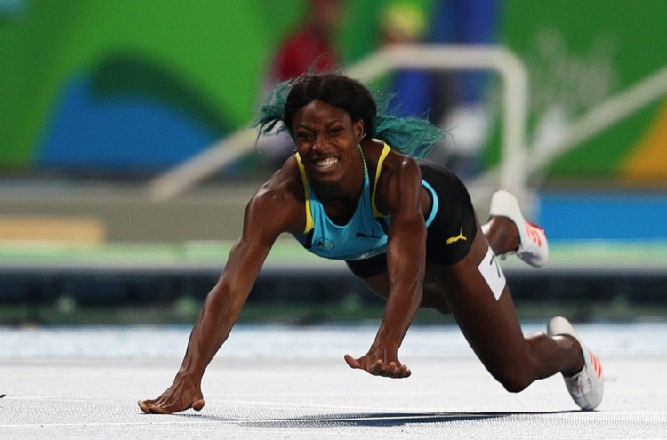 Shawnae Miller of the Bahamas - Winning Gold in 400m [Source: Rio 2016 Official Twitter]