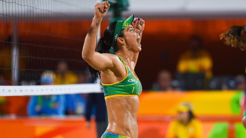 Agatha of Brazil - Beach Volleyball Semi Final Victory [Source: Alex Ferro/Rio2016]