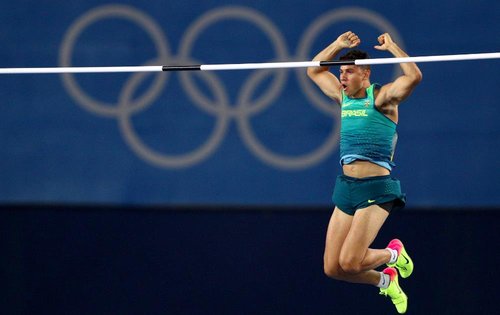 Thiago Braz of Brazil - Winning Gold in Pole Vaulting [Source: Paul Gilham/Getty Images]
