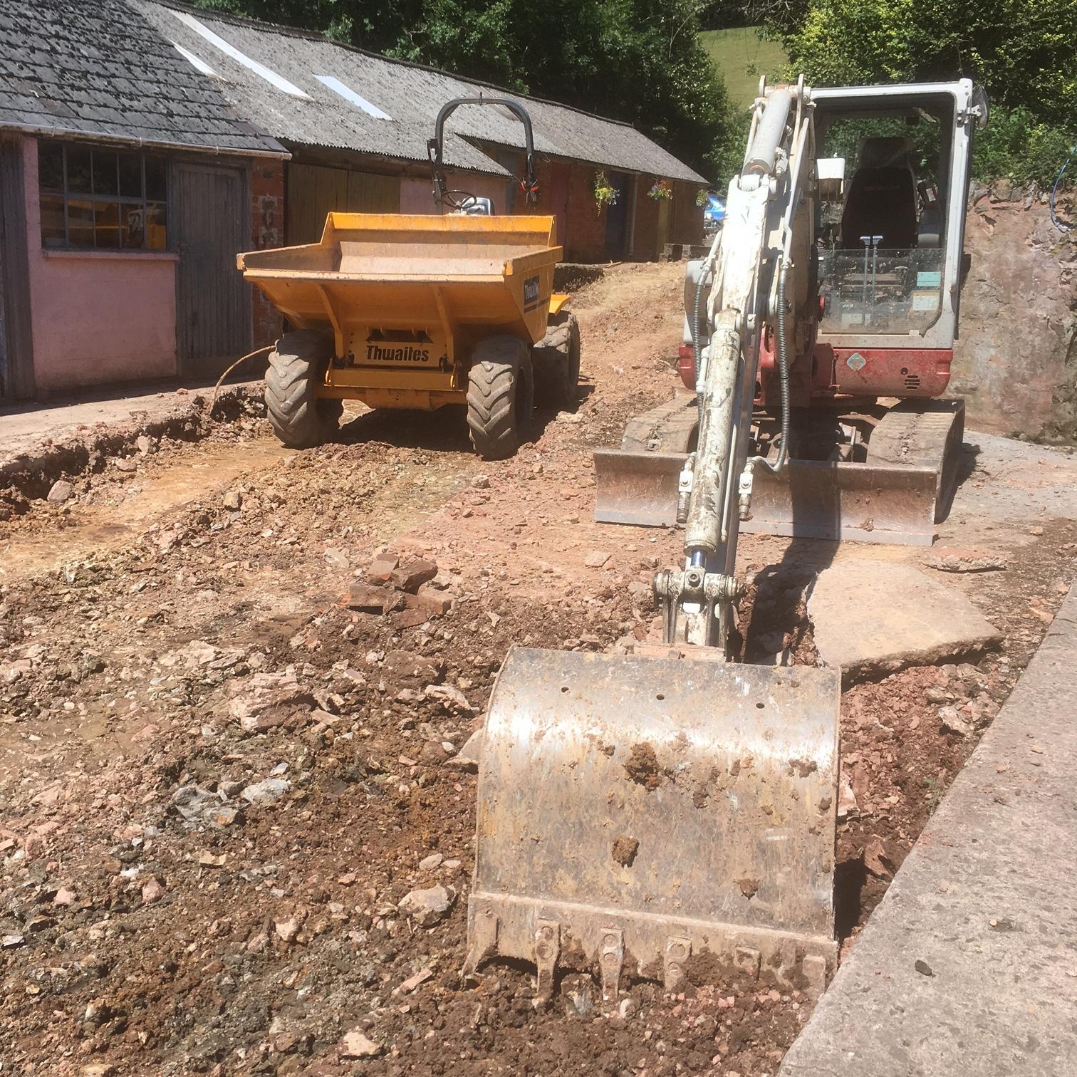 Hurstone, Somerset renovation work has begun