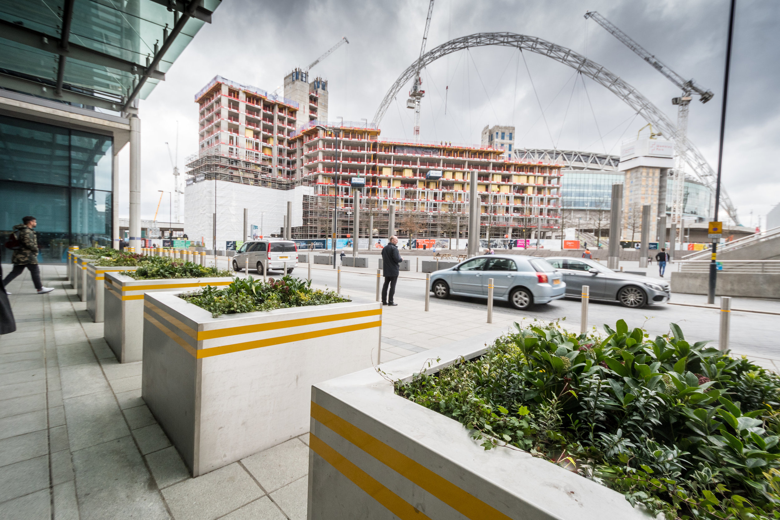 A Derbyshire security products company has helped protect staff and visitors to one of London's most prominent public buildings after installing a host of street planters in the shadow of Wembley Stadium's giant arch: Penguin PR: public relations, communications and media