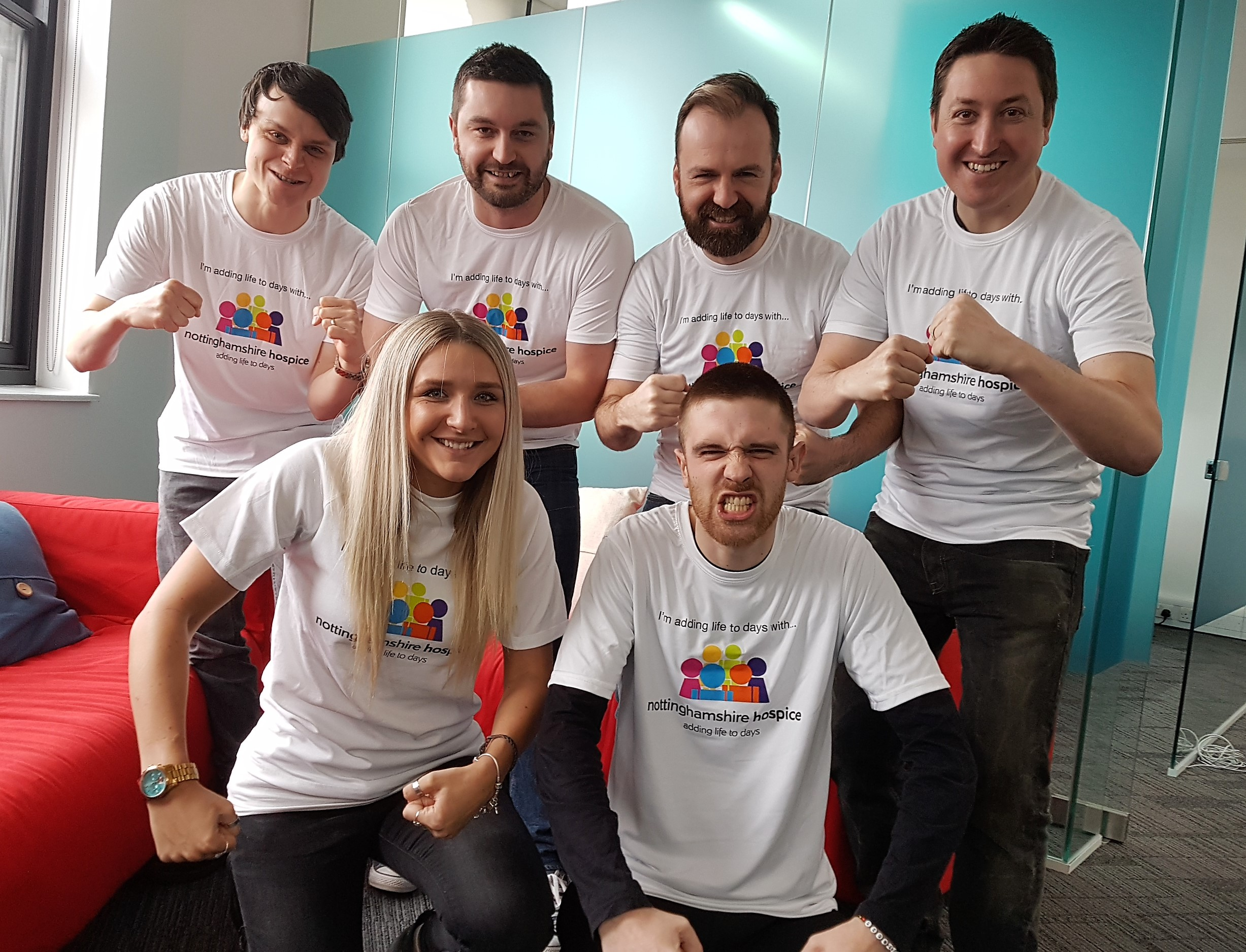 Jade Hutchinson and her colleagues at Nottinghamshire company VIA are raising money for the Nottinghamshire Hospice - Penguin PR: public relations, media and communications