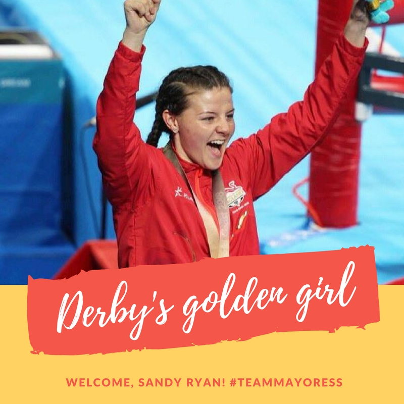 Derby boxer Sandy Ryan won gold at the 2018 Commonwealth Games no the Gold Coast in Australia. She'll be the special guest - along with brother Dave 'Rocky' Ryan and Derby County mascots Rammie and Ewie at a charity event for Tenpin Derby. Penguin PR: public relations, media and communications