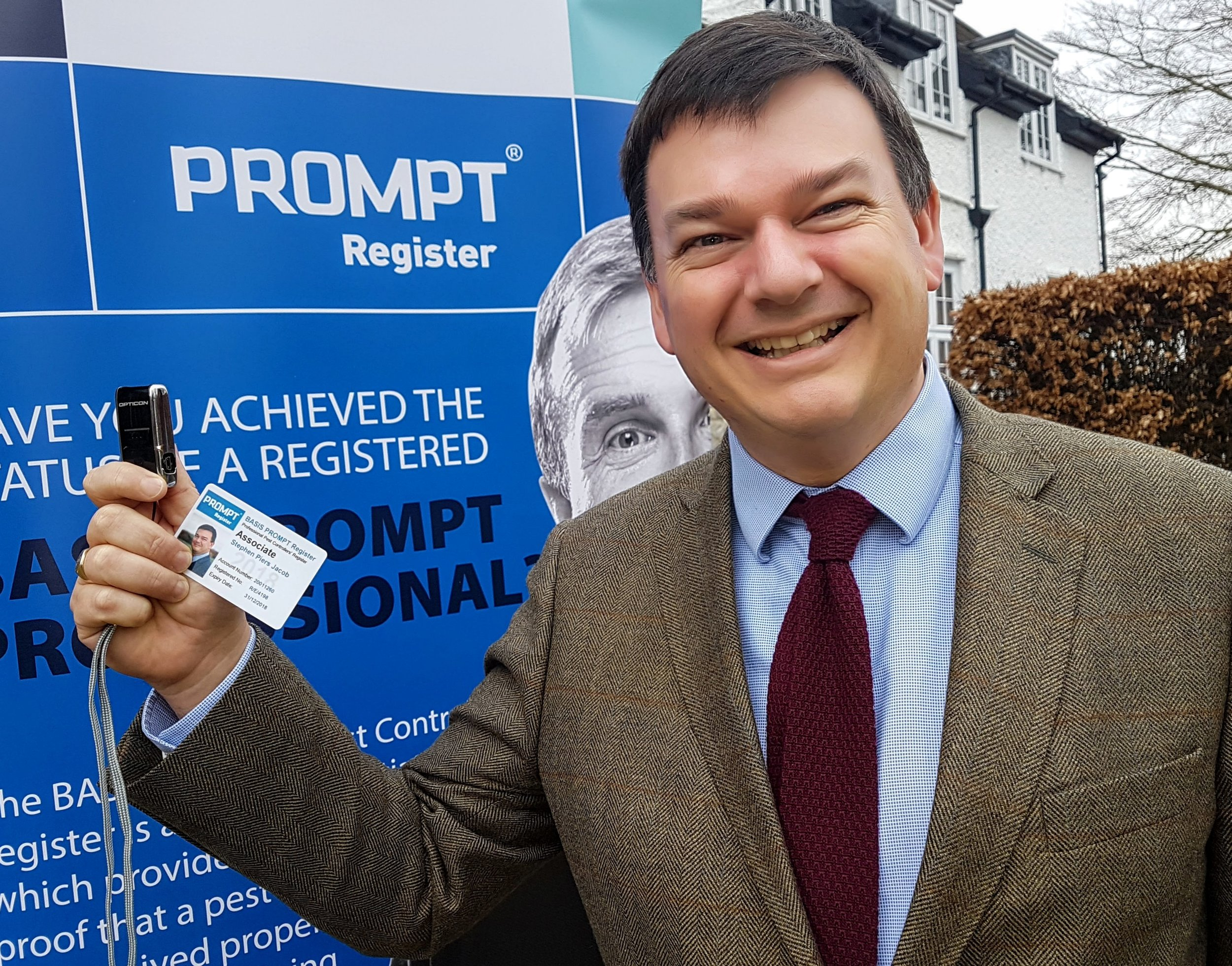 Stephen Jacob, chief executive of the PROMPT Register, which has changed its strapline to Registering Excellence in Pest Management to reflect the industry's move from pest control to pest management. Penguin PR - public relations, media and communications