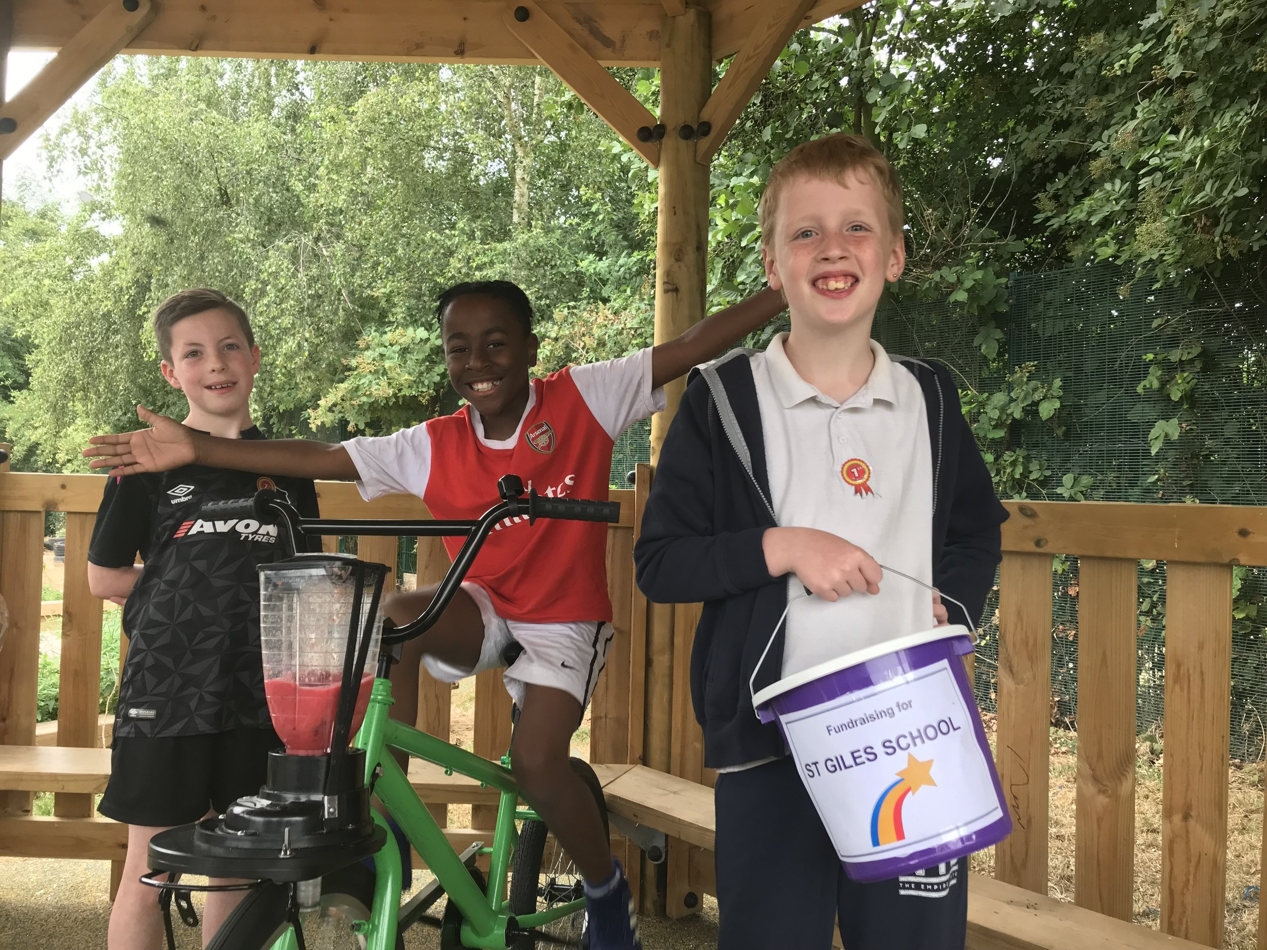 Youngsters from St Giles School in Derby enjoyed the Smoothie Bike, which was provided by catering company Chartwells. Penguin PR: public relations, media and communications