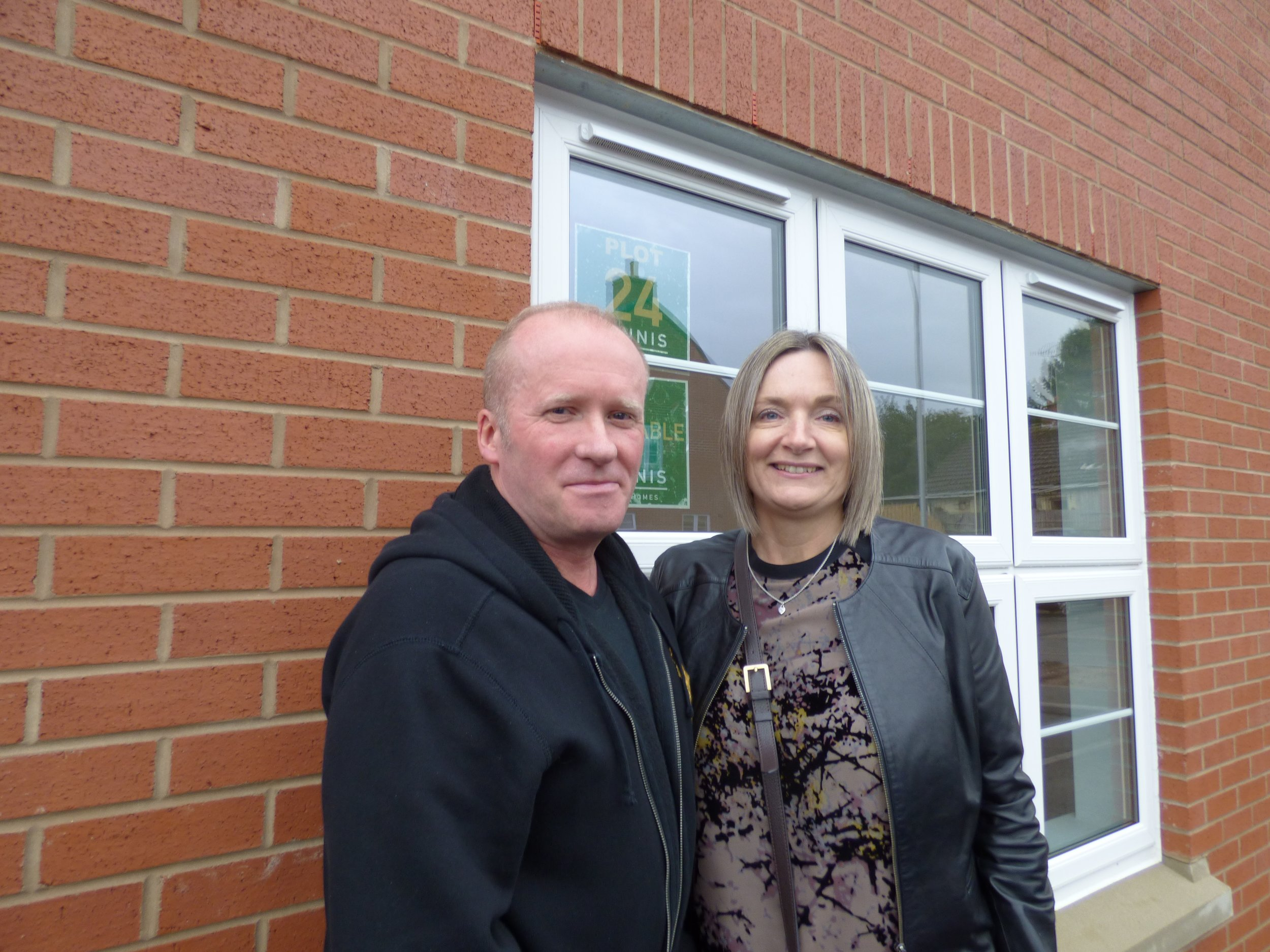 Chris Ball & Julie Frampton who reserved their new dream home after Saturday's Help to Buy event at Deer Park. Penguin PR: public relations, media and communications.
