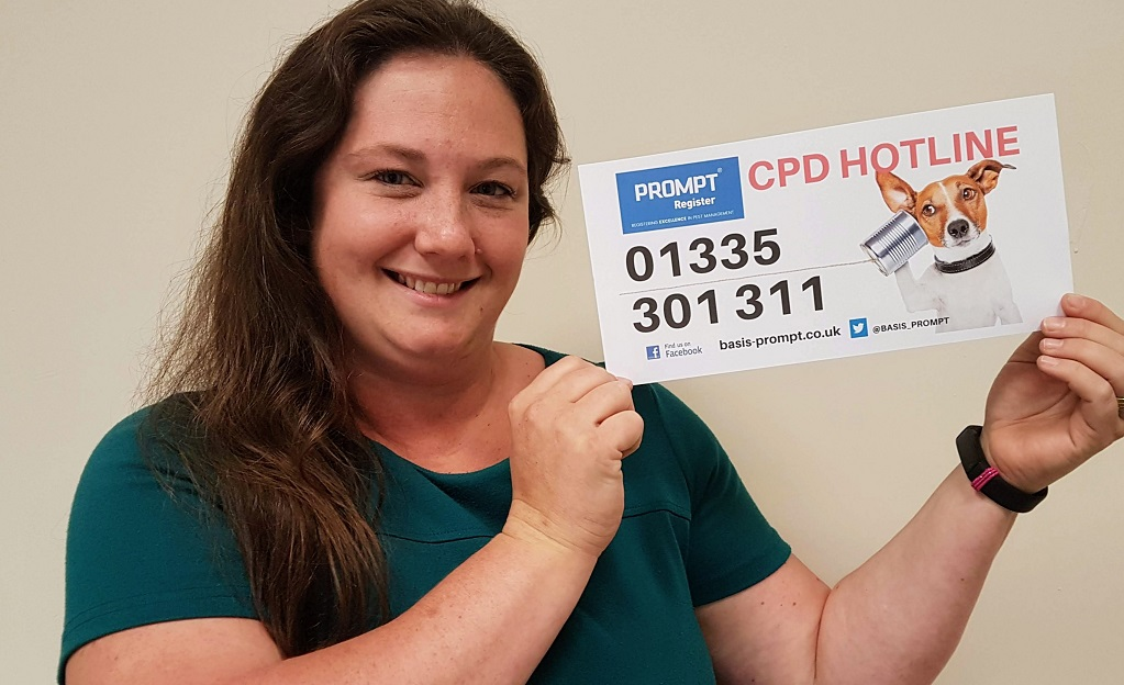 Chrissie Webster, who is operating the new CPD hotline 01335 301311, which has been launched by the BASIS PROMPT professional register. Penguin PR: public relations, media and communications